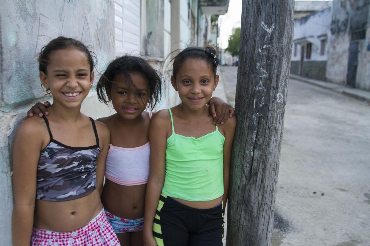 Young girls in Regla, Havana