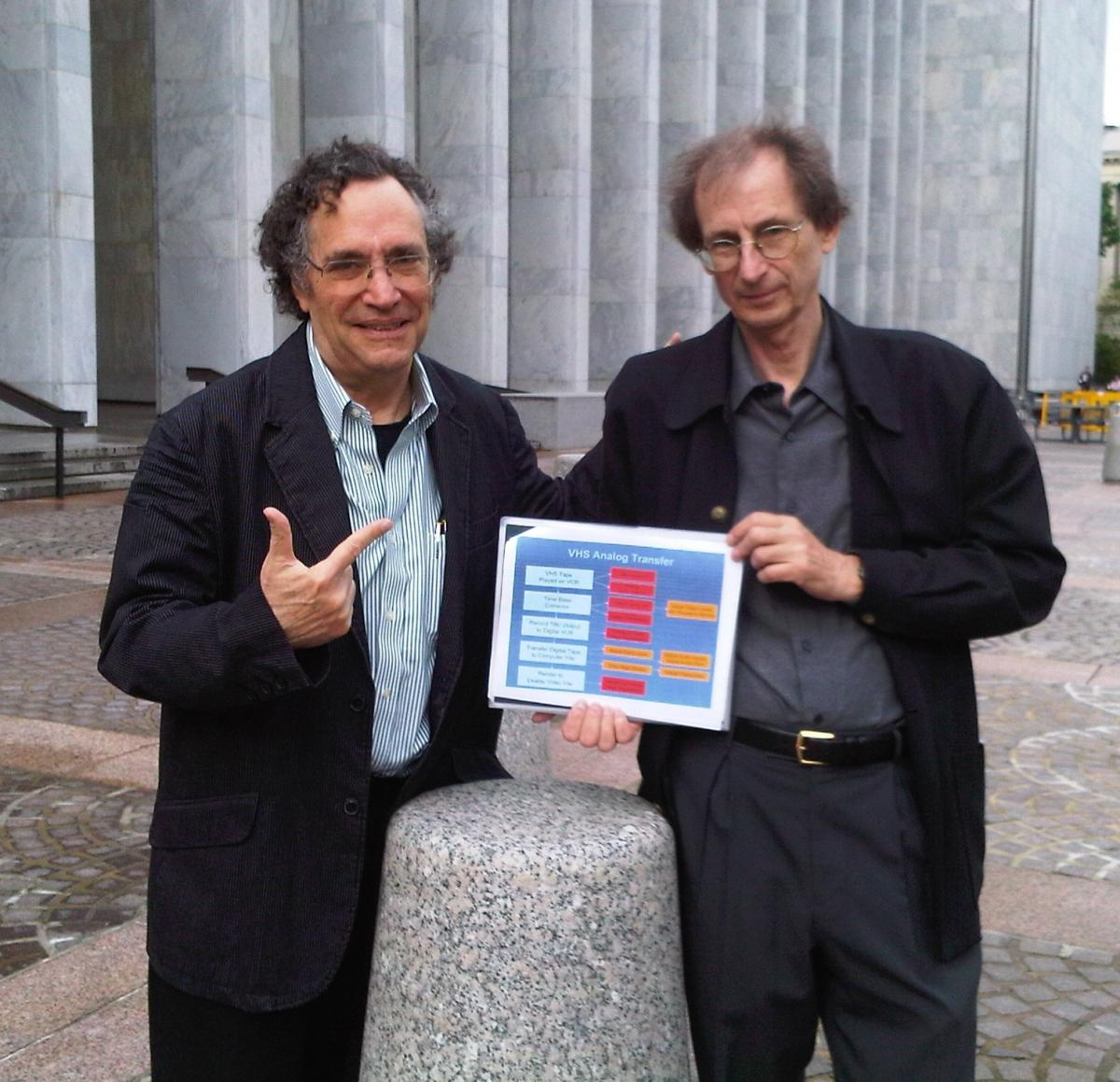 Gordon Quinn and Jim Morrisette of Kartemquin Films at the Library of Congress in May 2009