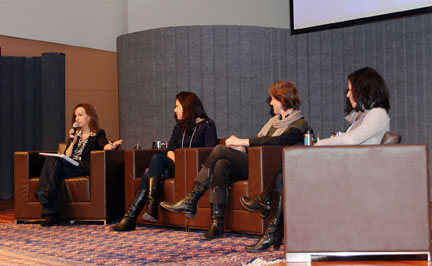 Panelists discussing over talk three at 2012 MTM