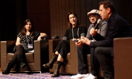 Panelists discussing over talk two at 2012 MTM