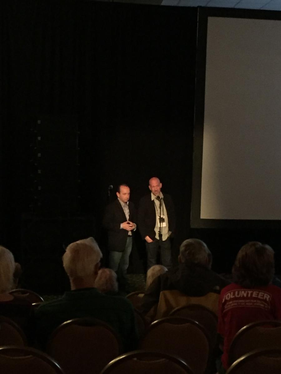 "Dr. Kevin Vigilante and filmmaker Josh Seftel  after the screening of ""Taking on the Kennedys"""