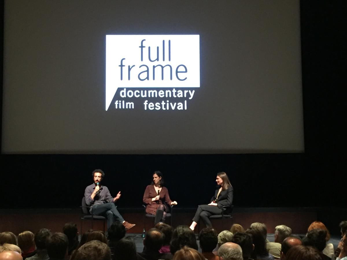 "Panel with filmmakers after screening of ""Weiner""."