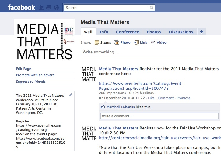 Media That Matters on Facebook