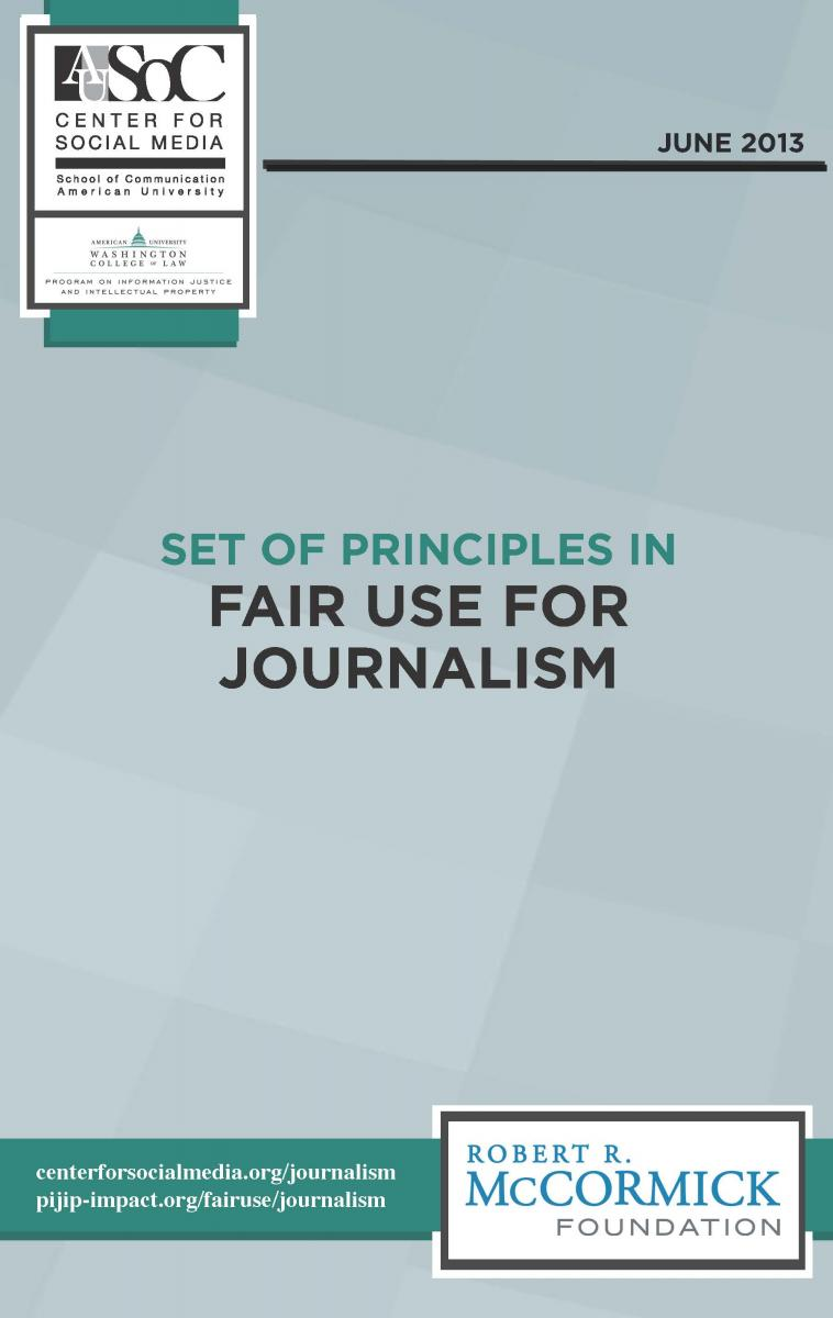 Set of Principles in Fair Use for Journalism