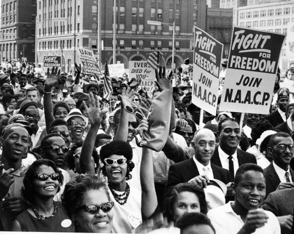 "Image by Jim Yardly, Civil Rights, Demonstrations, ""March to Freedom,"" Detroit, 1963"