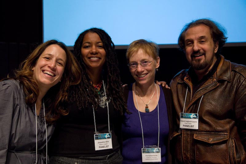 Left to right: Luisa Dantas, Jackie Olive, Pat Aufderheide, Roland Legiardi-Laura, Photo by Maria R.M. Howell