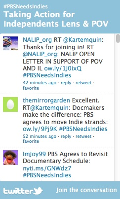 #PBSNeedsIndies